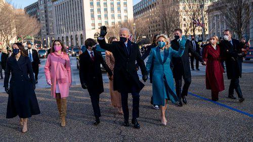 President Joe Biden, First Lady Jill Biden and his family.