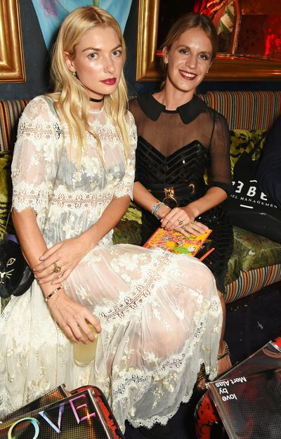 With Eugenie Niarchos at the Marc Jacobs and <em>Love</em> party, London Fashion Week