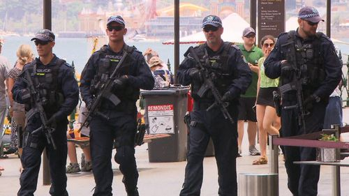 Heavily-armed police will patrol Sydney this New Year's Eve.