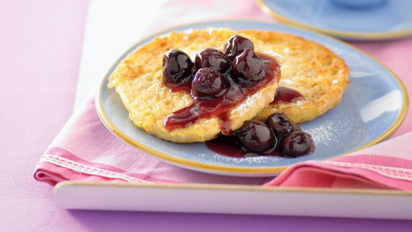 French muffins with cherries
