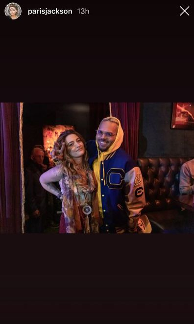 Paris Jackson and Chris Brown