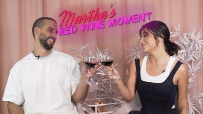 Martha's Red Wine Moment from Dinner Party #6