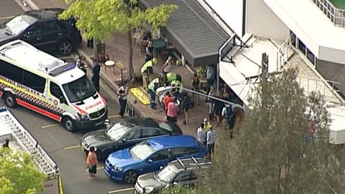 The car hit the Wild Basket cafe in Neutral Bay. (9NEWS)