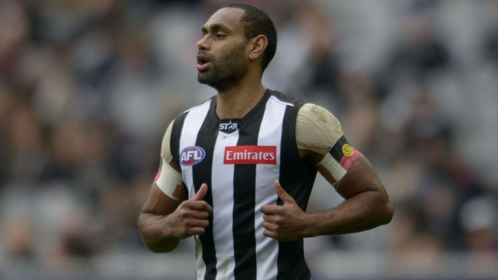 Collingwood's Travis Varcoe.