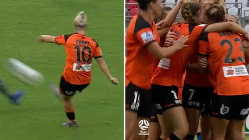 Gorry scored an incredible long-range goal while she was in the early stages of her pregnancy.