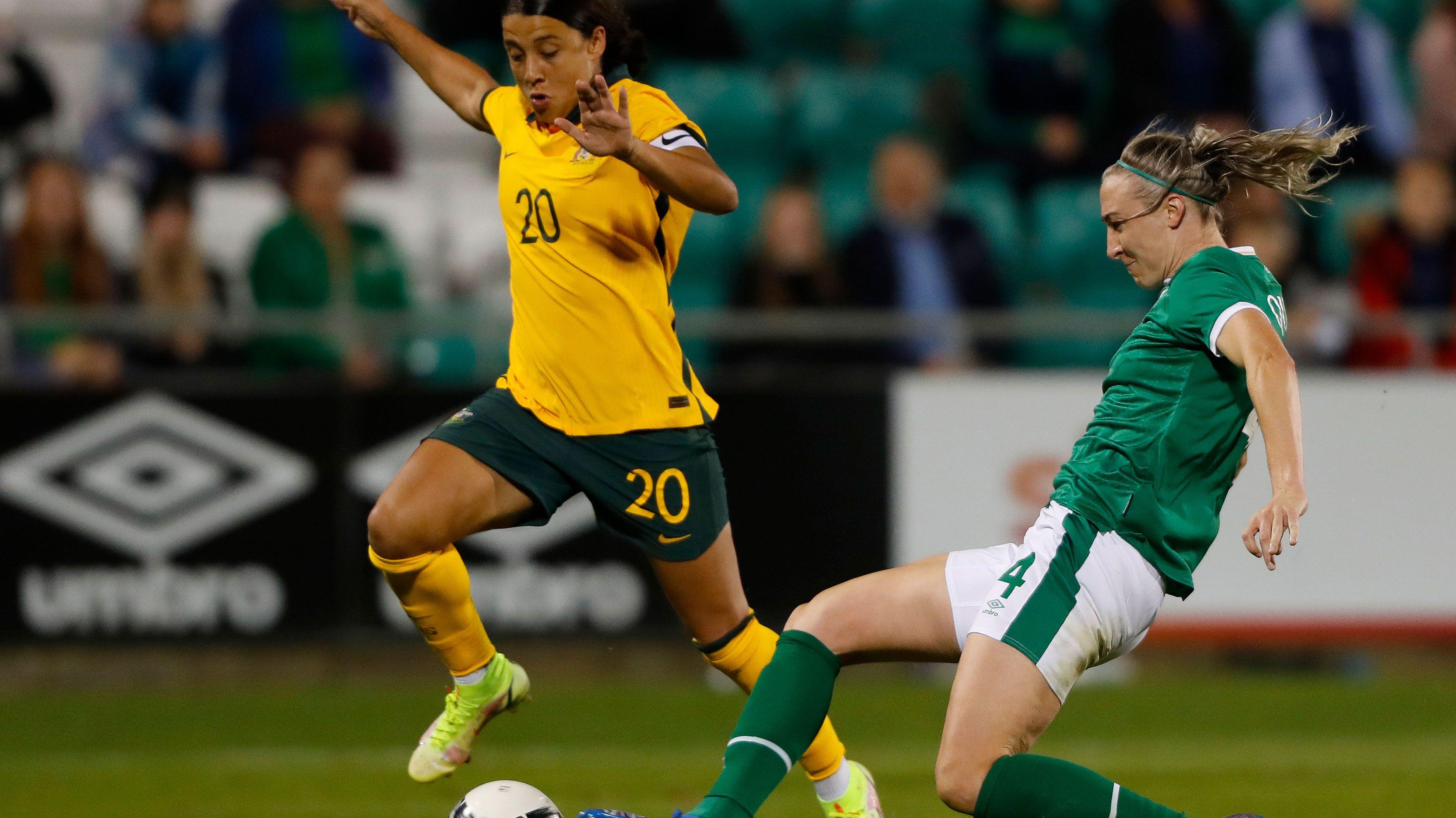 Sam Kerr's super milestone ends in defeat as Matildas go down to Republic of Ireland