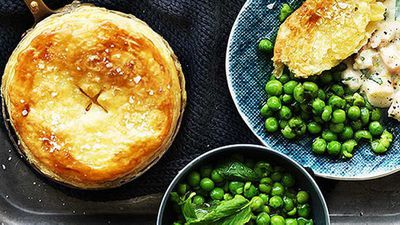 "Recipe: <a href=""http://kitchen.nine.com.au/2016/05/05/13/51/creamy-australian-prawn-pot-pies-with-minted-peas"" target=""_top"">Creamy Australian prawn pot pies with minted peas</a><br /> <br />"
