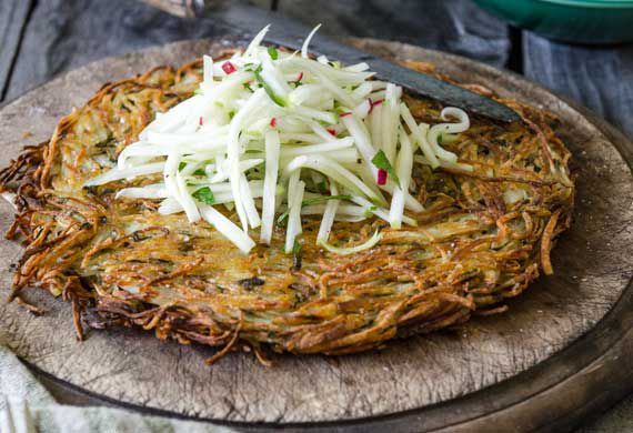 Amanda Michetti's potato rosti with greenstar apples and fennel slaw