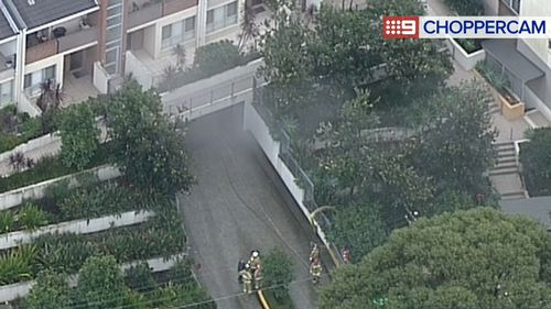 The fire occurred in a garage at the unit. (9NEWS)