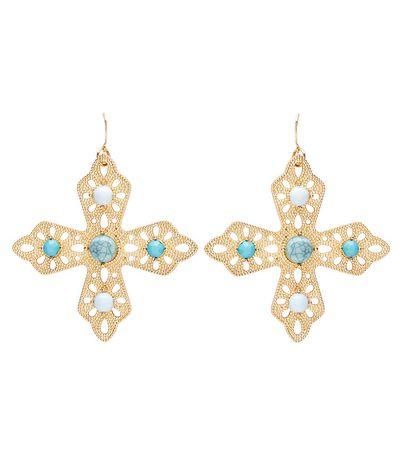 "<p><a href=""https://www.sportsgirl.com.au/accessories/earrings/turquoise-cross-earrings-gold-all"" target=""_blank"" draggable=""false"">Sportsgirl Turquoise Cross Earrings, $19.95</a></p>"