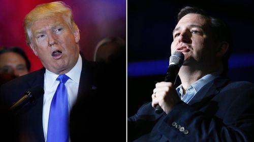 Donald Trump and Ted Cruz. (AFP)