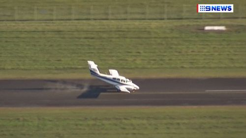 A light aircraft in Brisbane was forced to land on Thursday. (9NEWS)