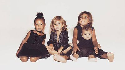 The Kardashian family are known for their annual family Christmas photo and this year they decided to share one of the youngest kids in the family. (Instagram)
