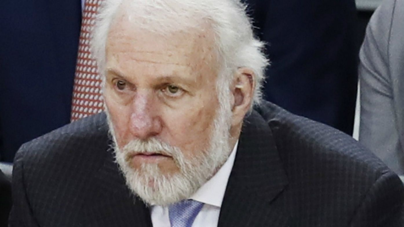 Legendary NBA coach Gregg Popovich refuses to explain why he didn't kneel during US national anthem