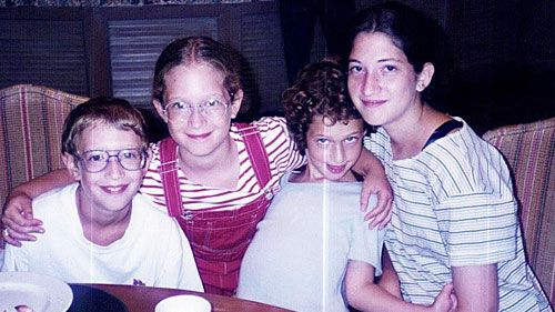 A young Mark Zuckerberg (left) with his sisters. (Facebook)