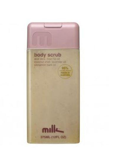 """<a href=""""http://www.milkandco.com.au/bodyscrub"""" target=""""_blank"""" draggable=""""false"""">Milk &amp; Co Body Scrub 375ml, $16.95</a>"""
