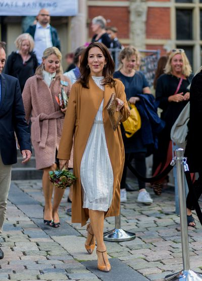 Crown Princess Crown Princess Mary of Denmark on the first day of the Copenhagen Fashion Week Spring/Summer 2017 on August 10, 2016 in Copenhagen, Denmark.