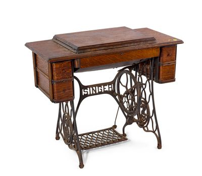 <strong>A Singer treadle-based sewing machine, circa 1910</strong>