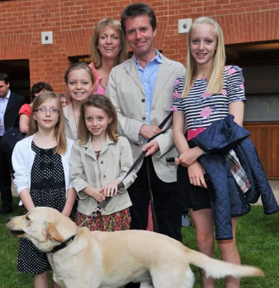 Nicky Campbell with his family.