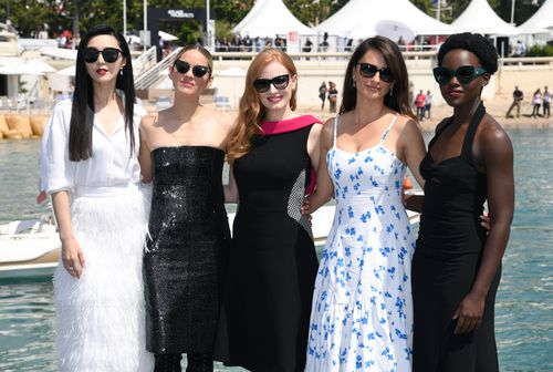 Fan Bingbing with Marion Cotillard, Jessica Chastain, Penelope Cruz and Lupita Nyong'o at the 71st Cannes Film Festival.