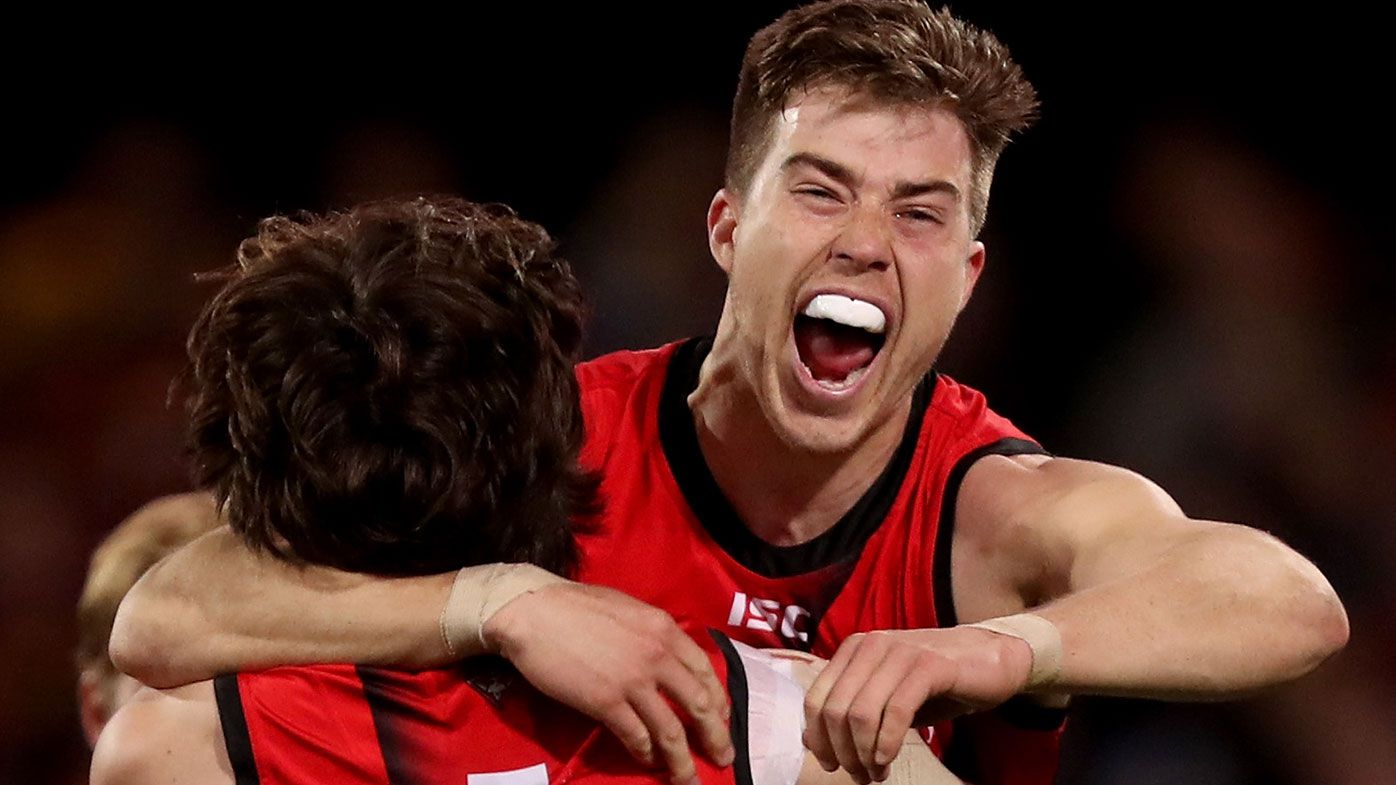 Zach Merrett of the Bombers