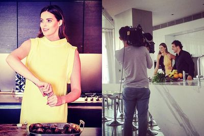 Robyn's cooking up a storm! <br/><br/>The Aussie beauty has just signed a cook book deal with publisher Random House... AND is in pre-production for her own kitchen show on Foxtel. <br/>