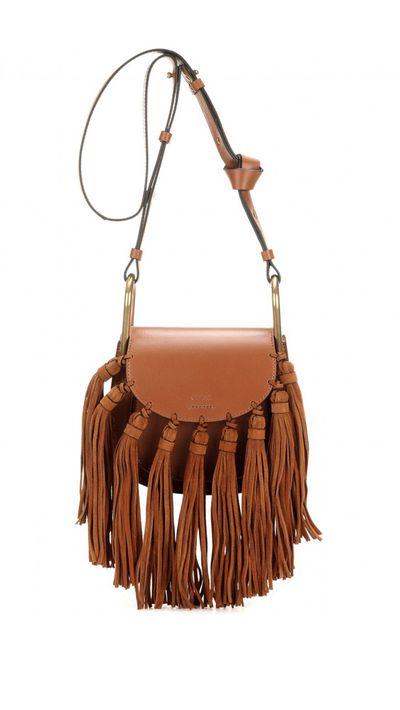 17. A tassled bag