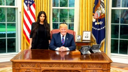 Kim met US President Donald Trump where she helped secure the release of a grandmother behind bars.