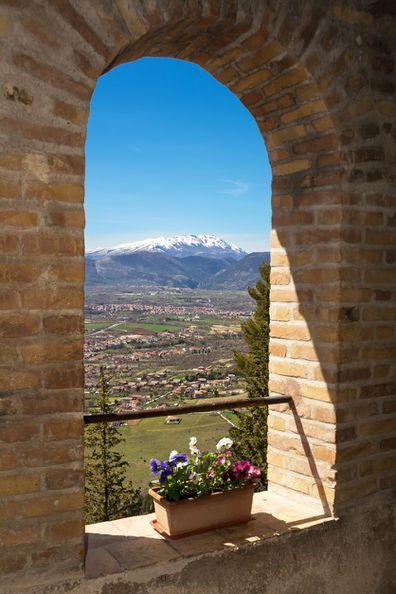 Peligna valley in Pratola Peligna in Abruzzo, Italy