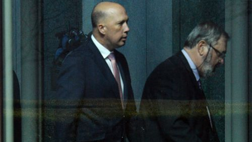 Home Affairs Minister Peter Dutton was Mr Turnbull's lone challenger.
