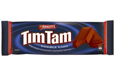 0.8 Tim Tam Double Coat biscuits are 100 calories