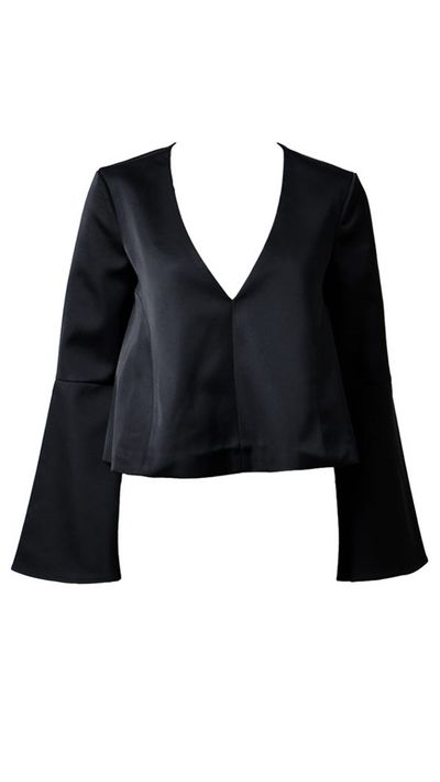 """<a href=""""http://shopmarkethq.com/collections/shop-by-shirting/products/little-faith-top"""" target=""""_blank"""">Little Faith Top, $149.95, Keepsake The Label</a>"""