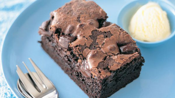 Double choc fudge brownies