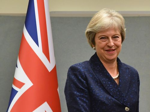 Britain's under-fire prime minister Theresa May at the United Nations General Assembly in New York.