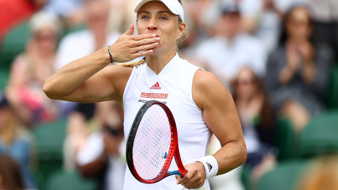 Former Wimbledon champion Angelique Kerber shakes off the wobbles to advance to final 16