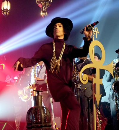 Prince performs on stage at The Hollywood Palladium on in 2014, Los Angeles, California.