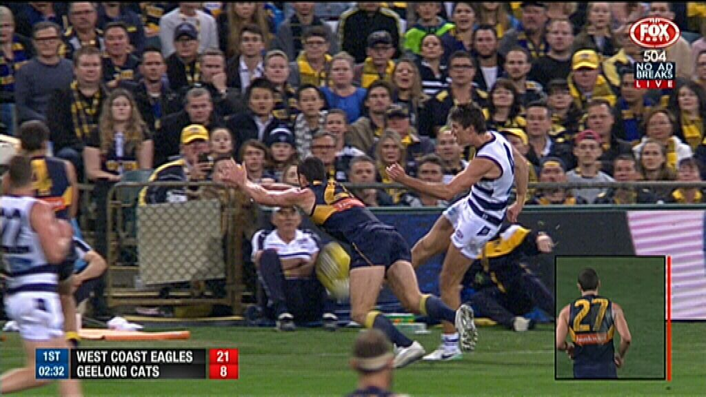 Jack Darling amazes with acrobatic smother