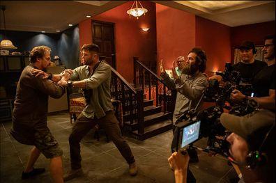 Chris Hemsworth filming Extraction