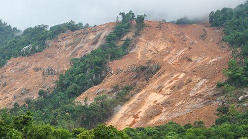 The landslide affected villages in the Kegalle district. (AFP)