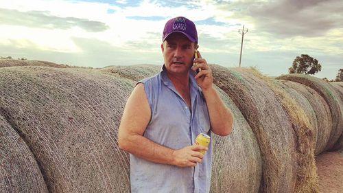 Brendan Farrell from Burrumbuttock Hay Runners.