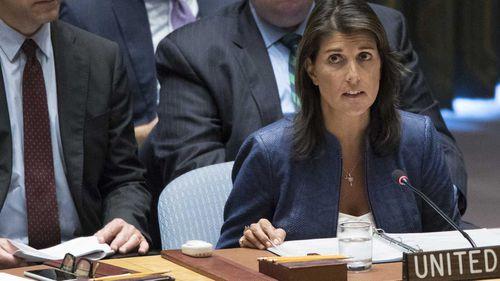 UN ambassador Nikki Haley.