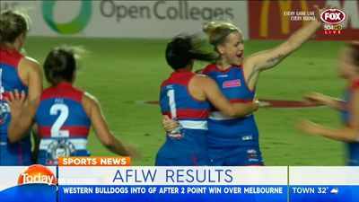 Western Bulldogs into AFLW Grand Final with last-minute win over Melbourne Demons