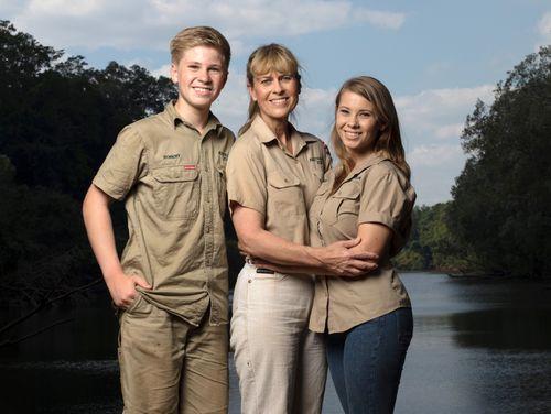 The Irwin family, (left) Robert, Terri and Bindi. (AAP)