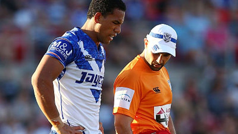 Will Hopoate injured his knee during the trail against Penrith. (Getty)