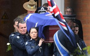 Funerals of two police officers killed in crash held today