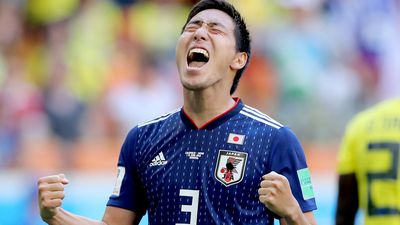 Japan sink 10-man Colombia at World Cup