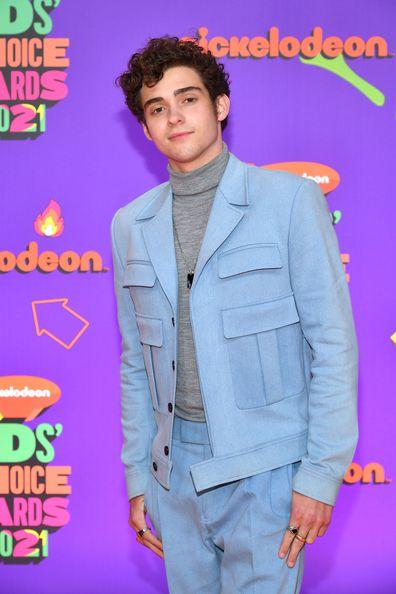 Joshua Bassett attends Nickelodeon's Kids' Choice Awards at Barker Hangar on March 13, 2021 in Santa Monica, California.