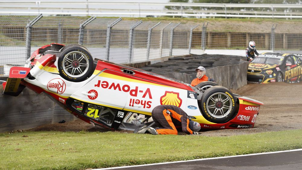 Fabian Coulthard's Supercars hopes take hit after huge accident in New Zealand