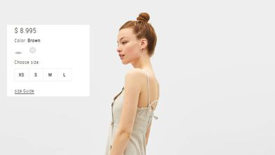 The dress is described as brown on the Bershka website