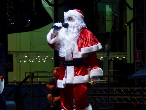 Santa visited Martin Place last night.